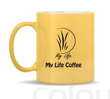 แก้วมัคเหลือง 10oz. My Life Coffee