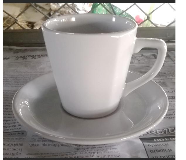 แก้วกาแฟ 200 cc. แก้วทรงสูงสีขาว
