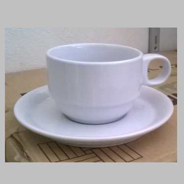 แก้วกาแฟ 200cc. แก้วทรงซ้อนขาว