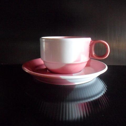 ชุดกาแฟ 200 cc. ทูโทนชมพู