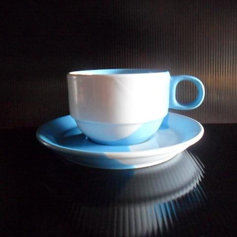 ชุดกาแฟ 200 cc. ทูโทนฟ้า