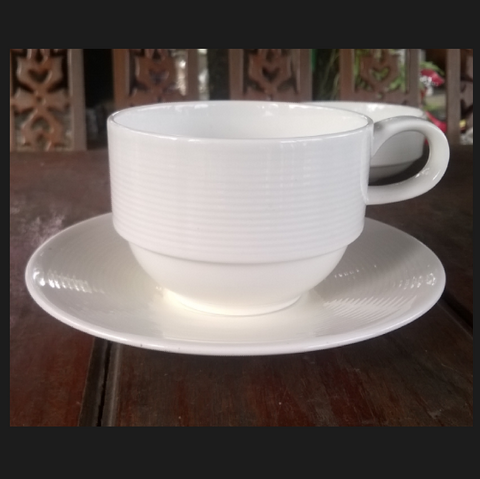 Coffee Cup 200cc. White-Stackable