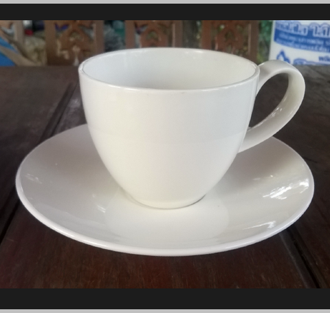 Coffee Cup 200cc. White-chinaware
