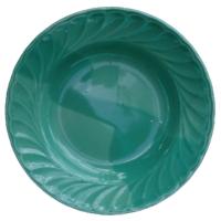 จานข้าว 8 นิ้ว สีเขียวเข้ม