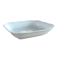 7-inch Square Deep Plates (White)