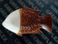 จานปลา 14 นิ้ว น้ำตาล