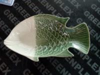 จานปลา 14 นิ้ว เขียว