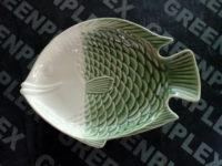 จานปลากลม 11 นิ้ว เขียว