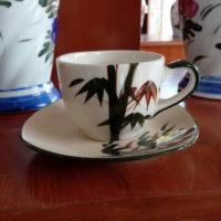 ชุดกาแฟจานรองลายไผ่
