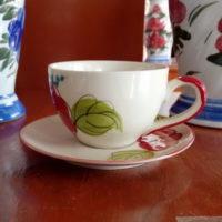 ชุดกาแฟจานรองลายดอก