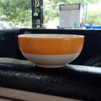 ชามลายเส้น 5″ สีส้ม