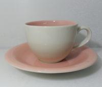 ชุดกาแฟจานรอง-ชมพูครีม