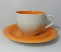 ชุดกาแฟจานรอง-ส้มครีม