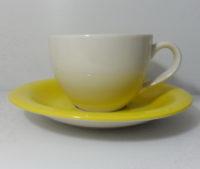 ชุดกาแฟจานรอง-เหลืองครีม