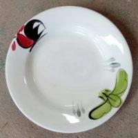 จานไก่ขอบลึก 8″ (ต้นกล้วย)