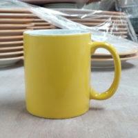 mug 300 cc. Yellow-White