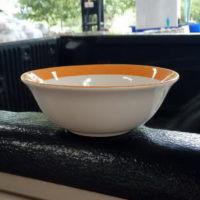 ชามปากบาน 6″ ขอบส้ม