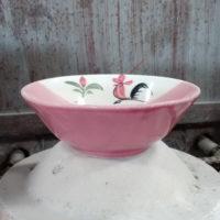ชามไก่ปากบาน 7 นิ้ว สีชมพู