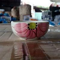 ถ้วยเซรามิกลายดอก 3.5 นิ้ว