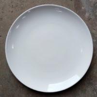 จานทรงบัว 13.5 นิ้ว ขาว