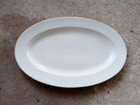 จานเปลทรงรี 35 x 23.5 cm.สีขาว