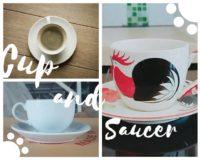 ชุดกาแฟจานรอง