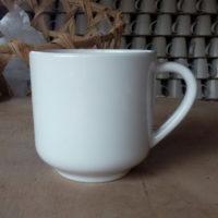 Mug 14 oz. white stoneware